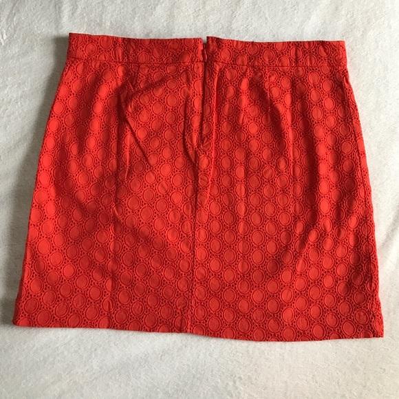 GAP Skirts - GAP orange eyelet mini skirt.