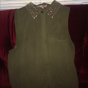Katie K Tops - Green sleeveless top