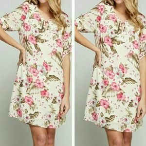 *** LAST ONE ***Tropical Spring Floral Dress
