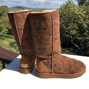 Ugg Brown Classic Tall Logo Boots 5808 Size 11