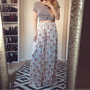 Brandy Melville Floral Wide Pants