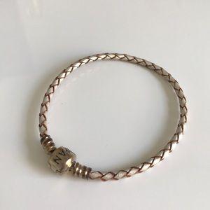 Pandora Jewelry - Pandora Cord Bracelet in Champagne