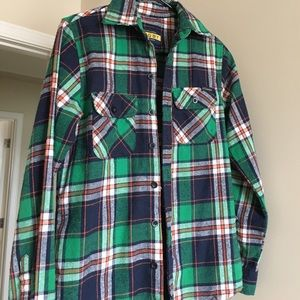 Off-White Tops - Off White Pyrex Flannel Women