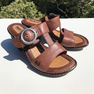 Born Shoes - Born Brown Buckle Sandals 7