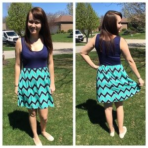 Auditions Dresses & Skirts - Sleeveless Chevron Summer Dress, Mint