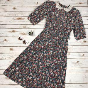 True Vintage SWEETBRIAR Floral Lace Pinup Dress 12