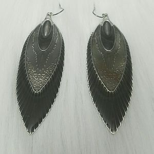 Jewelry - Vintage Earrings in a Feathered Design