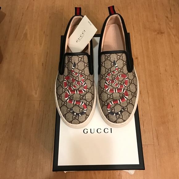 Gucci Shoes | Gucci Snake Print Slipon