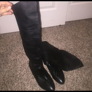 Chinese Laundry Shoes - Over the knee black boots