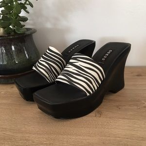 Guess Shoes - Vintage 90s Guess Zebra Platforms