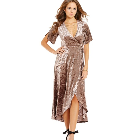 5c3d10609d1 Gianni Bini Marche Dress Velvet Wrap Dress