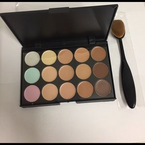 Other - 15 colors matte contour makeup + oval brush