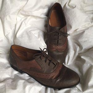 Studio Paolo Shoes - Studio Paolo Two-tone Brown Vegan Oxfords 9.5