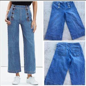 Denim - Sailor denim jeans capris
