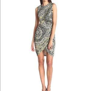 Ivy & Blu Sleeveless Printed Side Ruched Dress
