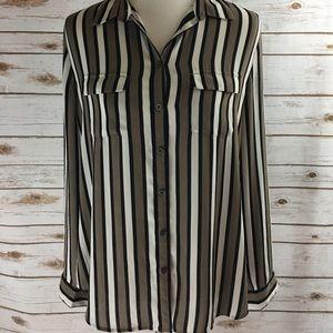 Loft Long Sleeve Striped Shirt