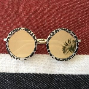 Le Specs Accessories - LE SPECS Hey Yeh 50mm Round Mirror Sunglasses