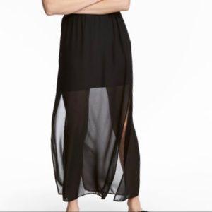 H&M Black Maxi Skirt BNWT