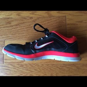 Nike Shoes - Bright red and black Nikes