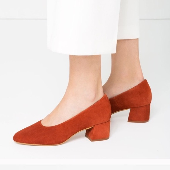 a6d894d544d0 NWT Zara Burnt Orange Ballerina Block Heels