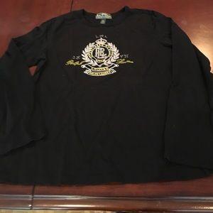 Ralph Lauren Active beaded long sleeve top. NWOT.