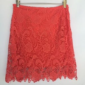 Ambiance Apparel Dresses & Skirts - Ambiance Apparel coral lace mini skirt