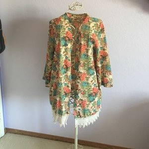 NECTAR Sweaters - Floral 🌸🌷🌺💐 cardigan (L)