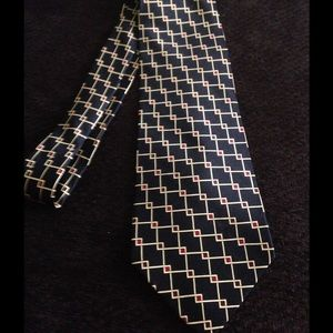 Dunhill Other - Black red & gold Dunhill silk tie