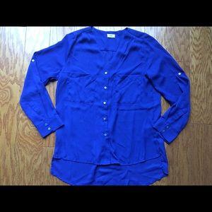 Tobi Tops - NWOT blue chiffon button down blouse