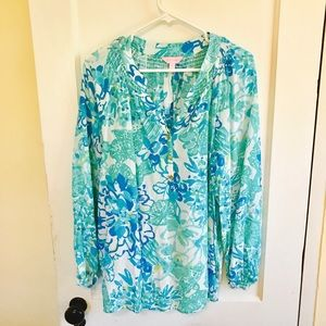Lilly Pulitzer Tops - Lilly Pulitzer- Elsa Top - XL - Gently Used