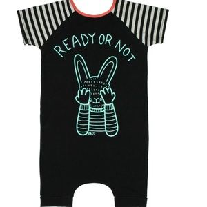 """Rags to Raches Other - Rags to Raches """"Ready or not"""" short sleeve romper"""