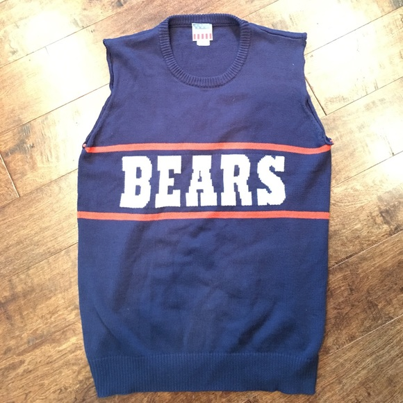 67% off Junk Food Clothing Other - Chicago Bears sweater vest ...