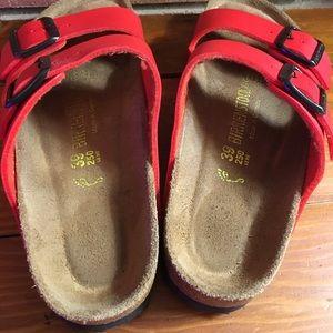 906ac54138d68 Birkenstock Shoes - Birkenstock Arizona cherry red Sandals size 39 8