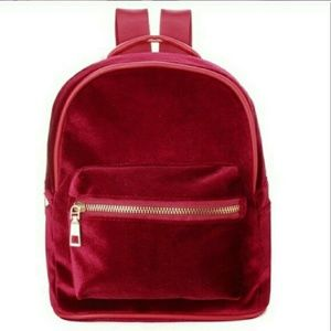 Handbags - ❤8/20 HP❤ NWT Burgundy Velvet Mini Backpack