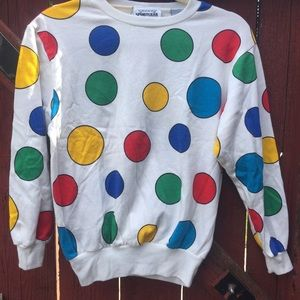 Vintage Sweaters - Polka Dot Sweater