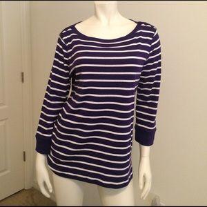 Jones New York Tops - NWOT Striped long sleeve shirt