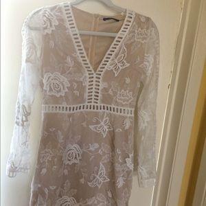 Dresses & Skirts - Long sleeve lace mini dress