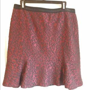 Ann Taylor Ruffle Hem Skirt