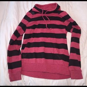 Roxy Sweaters - ROXY Red and Black Cowl-Neck Sweatshirt