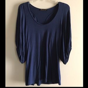 James & Joy Tops - Navy bell sleeve tunic