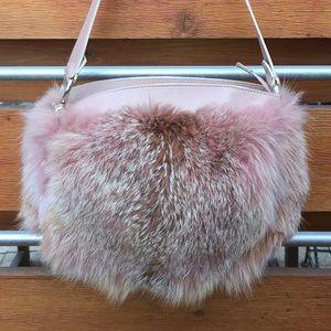 Handbags - Gorgeous dyed fox fur purse