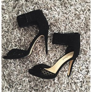 Shoes - Ankle Strap cut-out High Heels