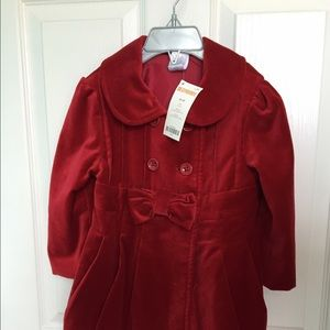 Gymboree Other - Gymboree Velvet jacket with bow detail