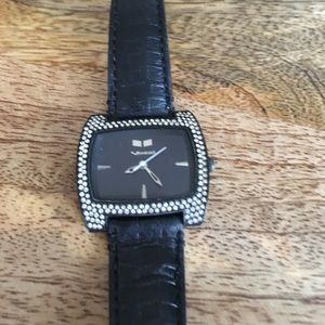 Vestal Accessories - Vestal Black ⌚️ Watch with Rhinestones