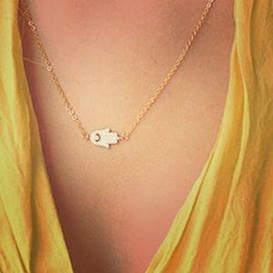 Jewelry - Dainty Fatima Hamsa Evil Eye Statement Necklace