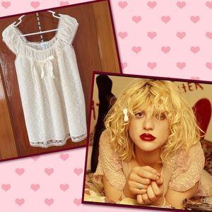 Vintage Tops - VTG kinderwhore babydoll top Courtney Love - Hole