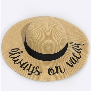 "Hannah Beury Accessories - ""Always on vacay"" Floppy Beach Hat"