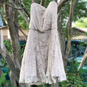 jcpenney Dresses & Skirts - Nude colored lacey dress