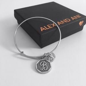 Alex & Ani Initial B Bangle