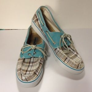 Sperry Topsider plaid size 10